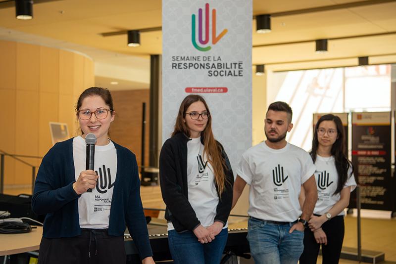 Lancement semaine responsabilité sociale 2019 Faculté de médecine Université Laval