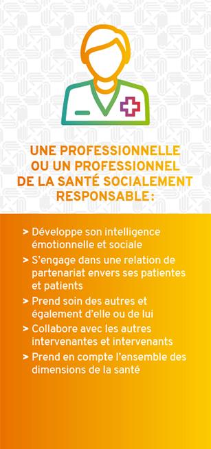 Une professionnelle ou un professionnel de la santé socialement responsable