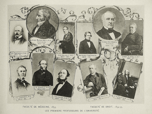 Histoire de la Faculté - Les premiers professeurs