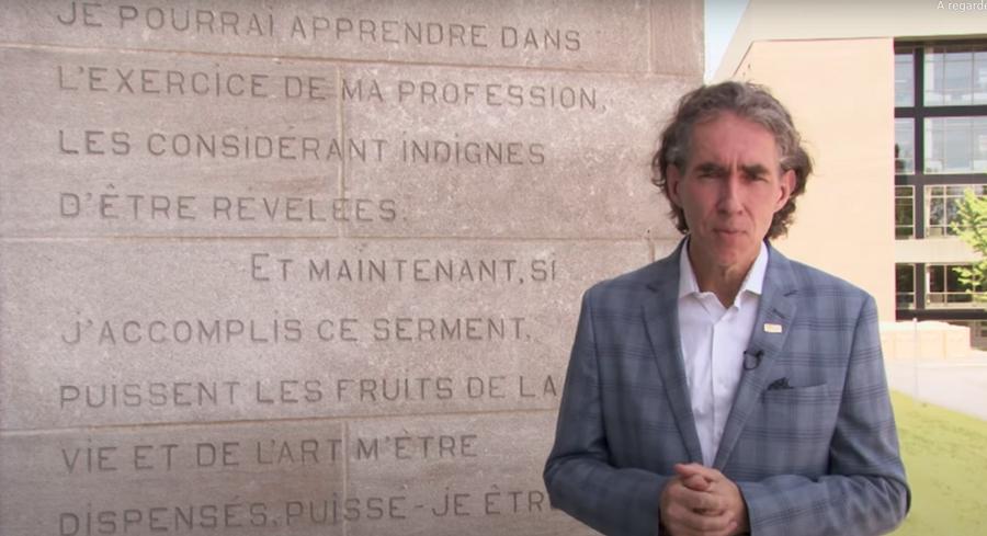 Julien Poitras et le serment d'Hippocrate