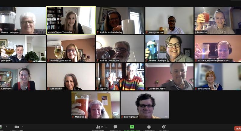 Participants rencontre en ligne