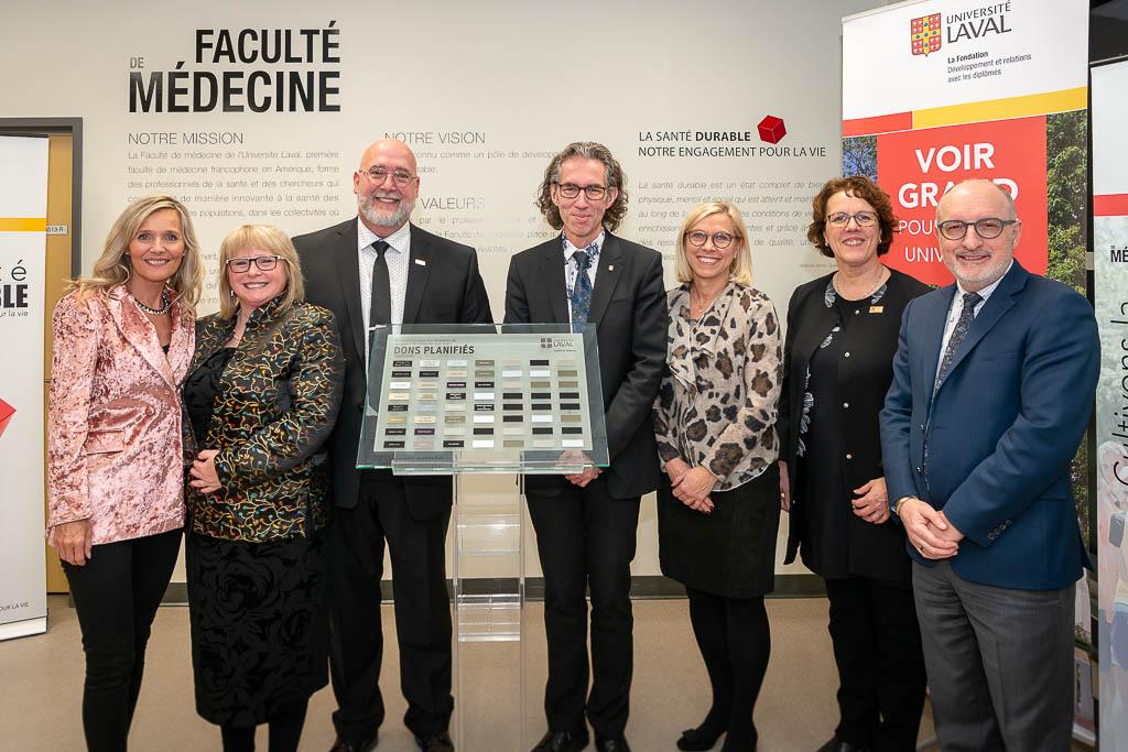 Reconnaissance donateurs 2018 faculté de médecine Université Laval