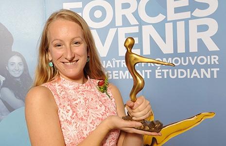 La lauréate du prix AVENIR Personnalité par excellence du Gala Forces AVENIR 2016 : Florence Côté