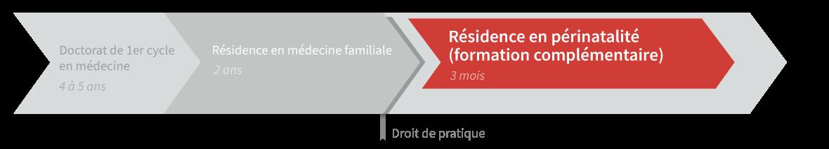 Graphique de cheminement résidence en périnatalité