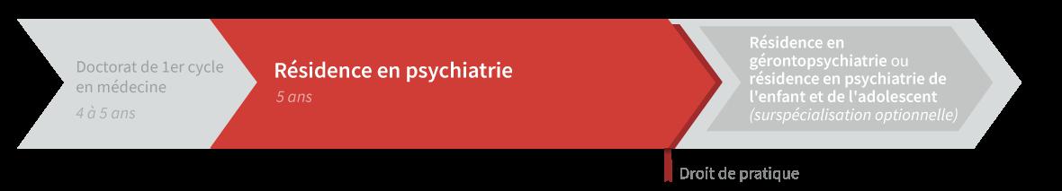 Graphique de cheminement résidence en psychiatrie