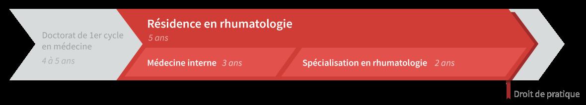Graphique de cheminement résidence en rhumatologie