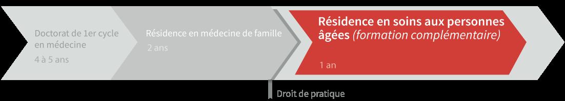 Graphique de cheminement résidence en soins aux personnes âgées